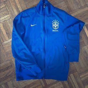 Nike Brasil CBF Blue ZIPUp size M unisex 2014